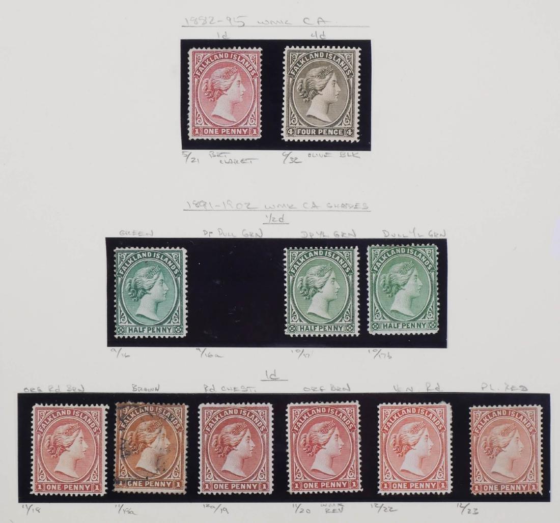 FALKLAND ISLANDS, 1882-1902 Unused, varieties