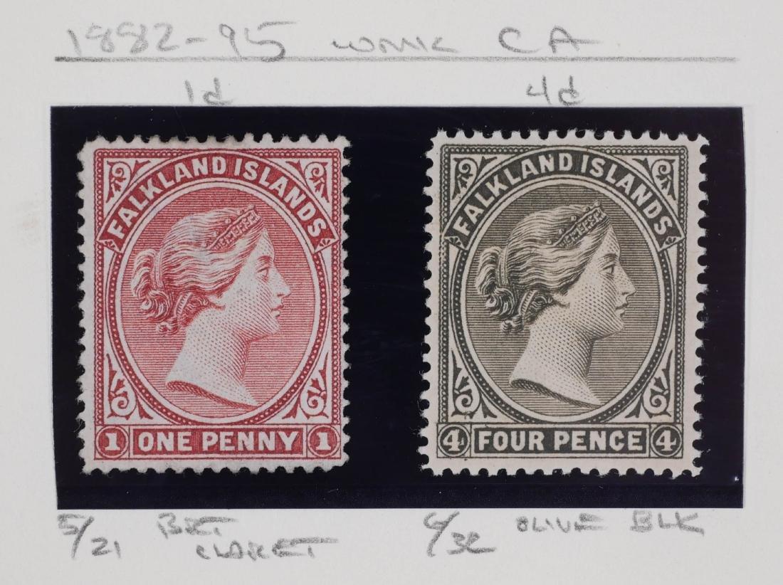 FALKLAND ISLANDS, 1882-1902 Unused, varieties - 2