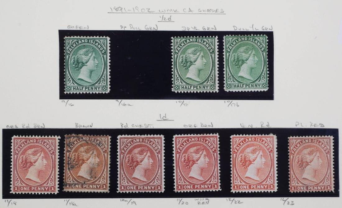 FALKLAND ISLANDS, 1882-1902 Unused, varieties - 3
