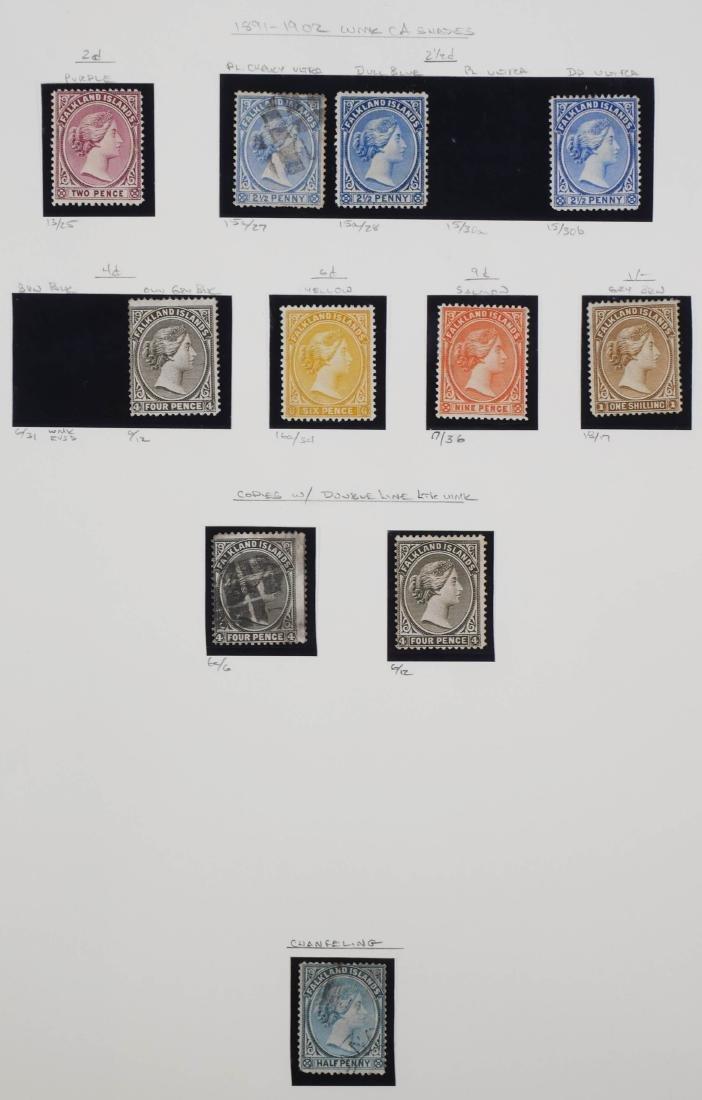 FALKLAND ISLANDS, 1891-1902 shades, changeling