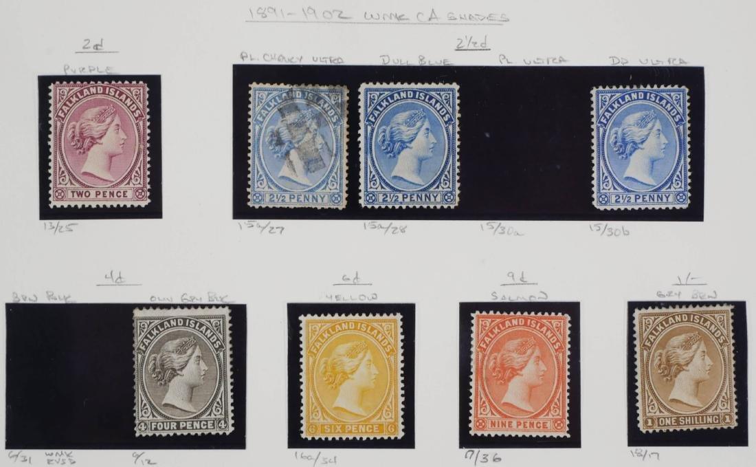 FALKLAND ISLANDS, 1891-1902 shades, changeling - 2