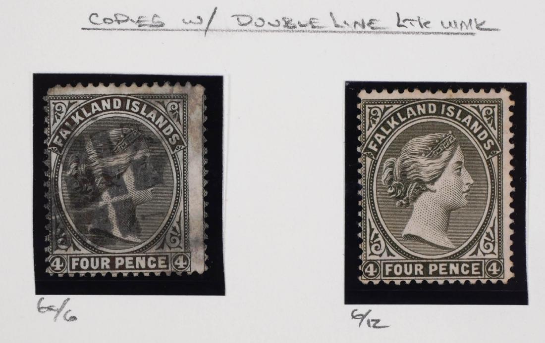FALKLAND ISLANDS, 1891-1902 shades, changeling - 3