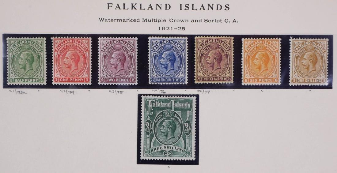 FALKLAND ISLANDS, 1921-25, #41-48 unused