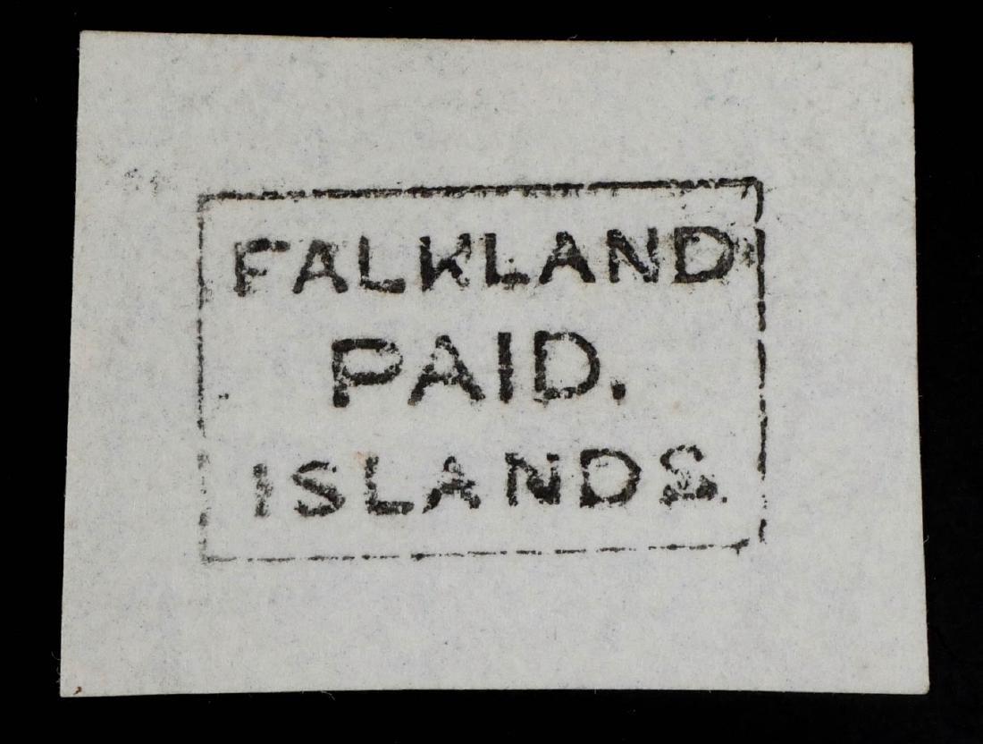 FALKLAND ISLANDS, 1869-76 Frank Stamp FR1 - 2
