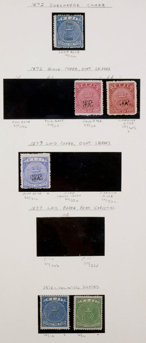 FIJI, 1870, various shades, including unlisted