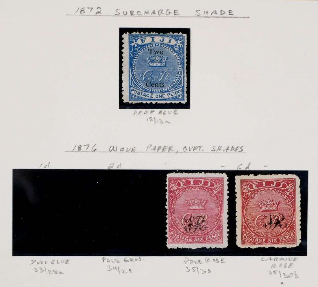 FIJI, 1870, various shades, including unlisted - 2