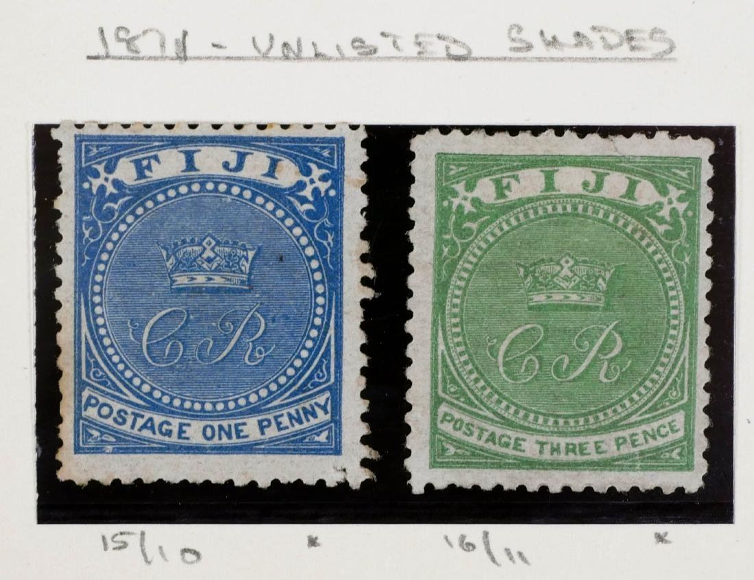 FIJI, 1870, various shades, including unlisted - 4