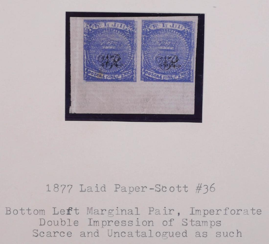 FIJI, 1877 #36 Horizontal Pair Double Impression