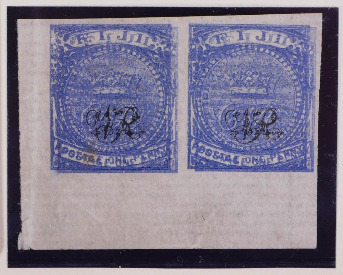 FIJI, 1877 #36 Horizontal Pair Double Impression - 2