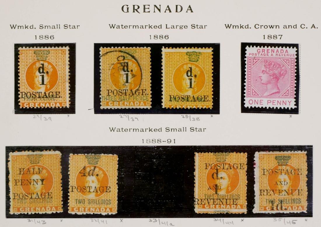 GRENADA, 1886-98, Surcharges etc. - 2