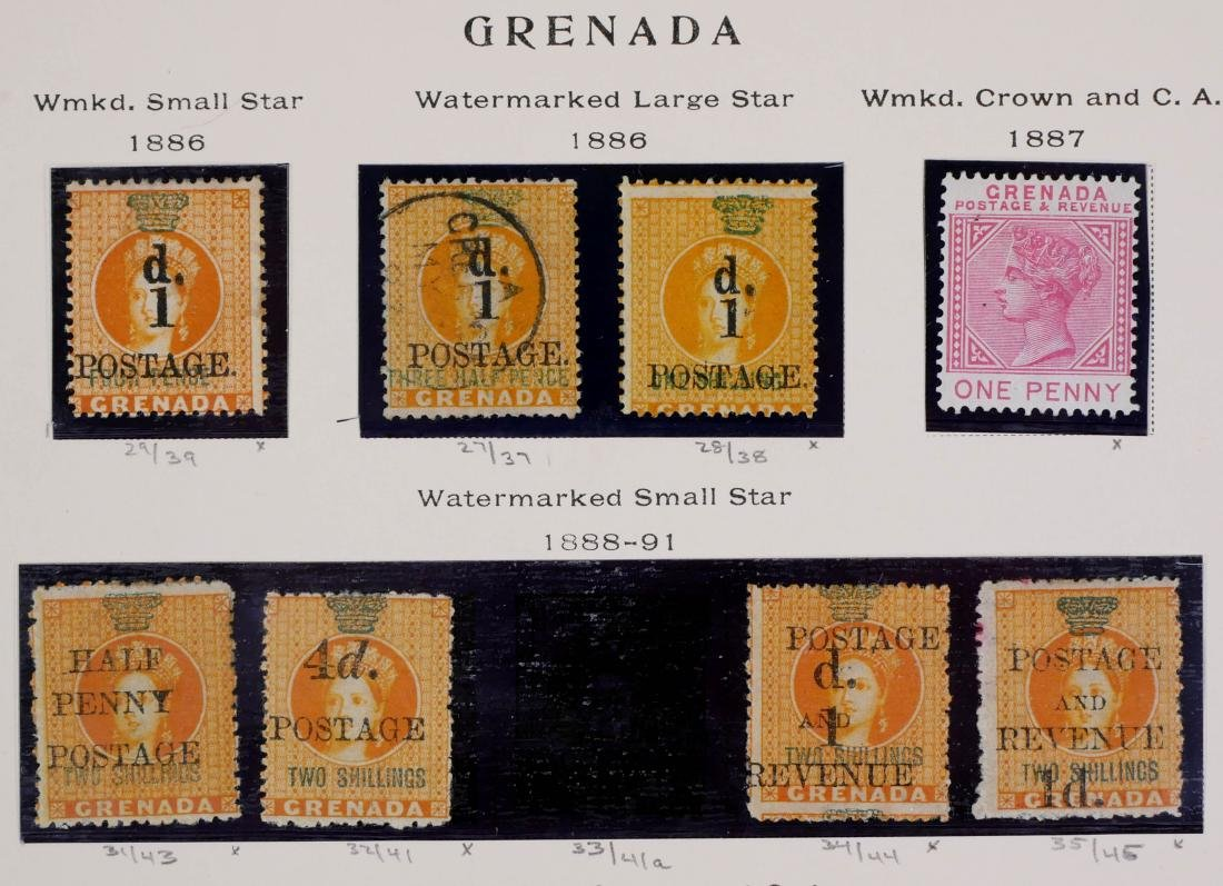 GRENADA, 1886-98, Surcharges etc. - 3