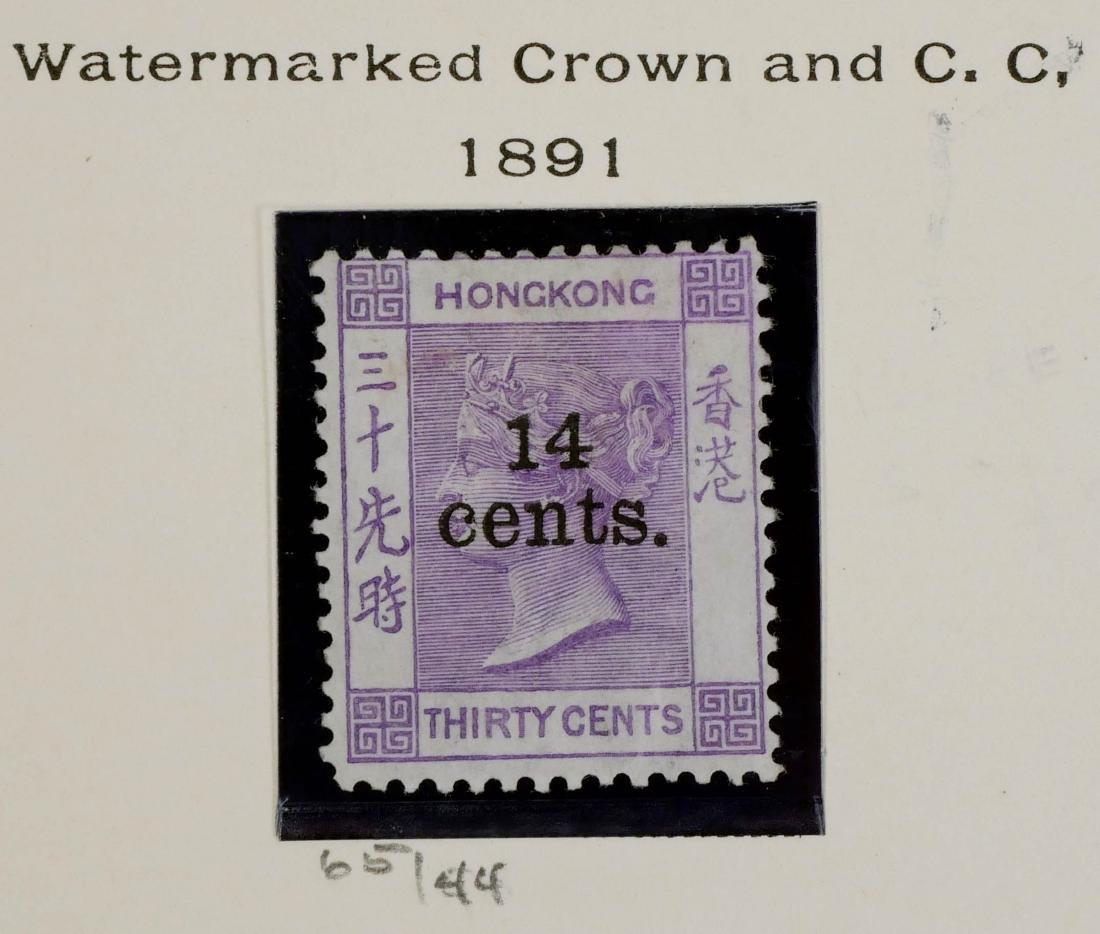 HONG KONG, 1891 14c on 30c violet #65
