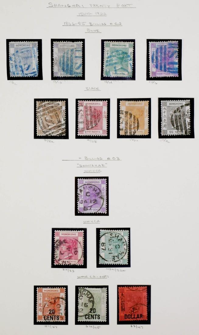 HONG KONG, 1866-85 Shanghai Treaty Port, 14 Stamps