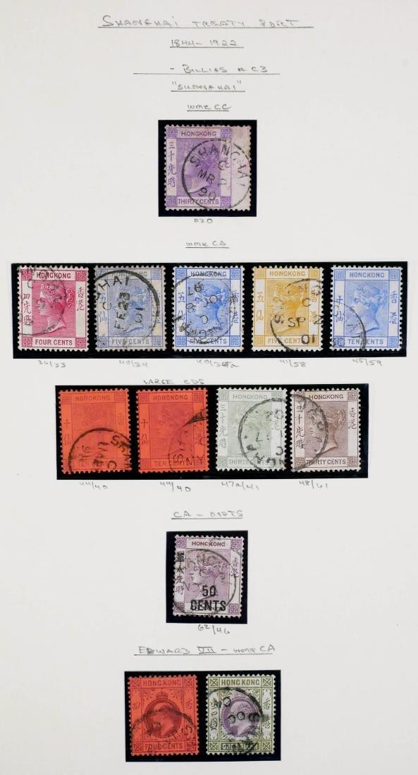 HONG KONG, Shanghai Treaty Port, 13 Stamps