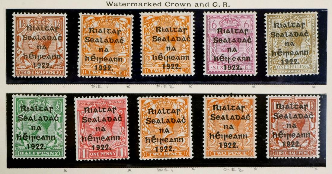 IRELAND, 1922, complete incl #12-14 unused CV $600 - 5