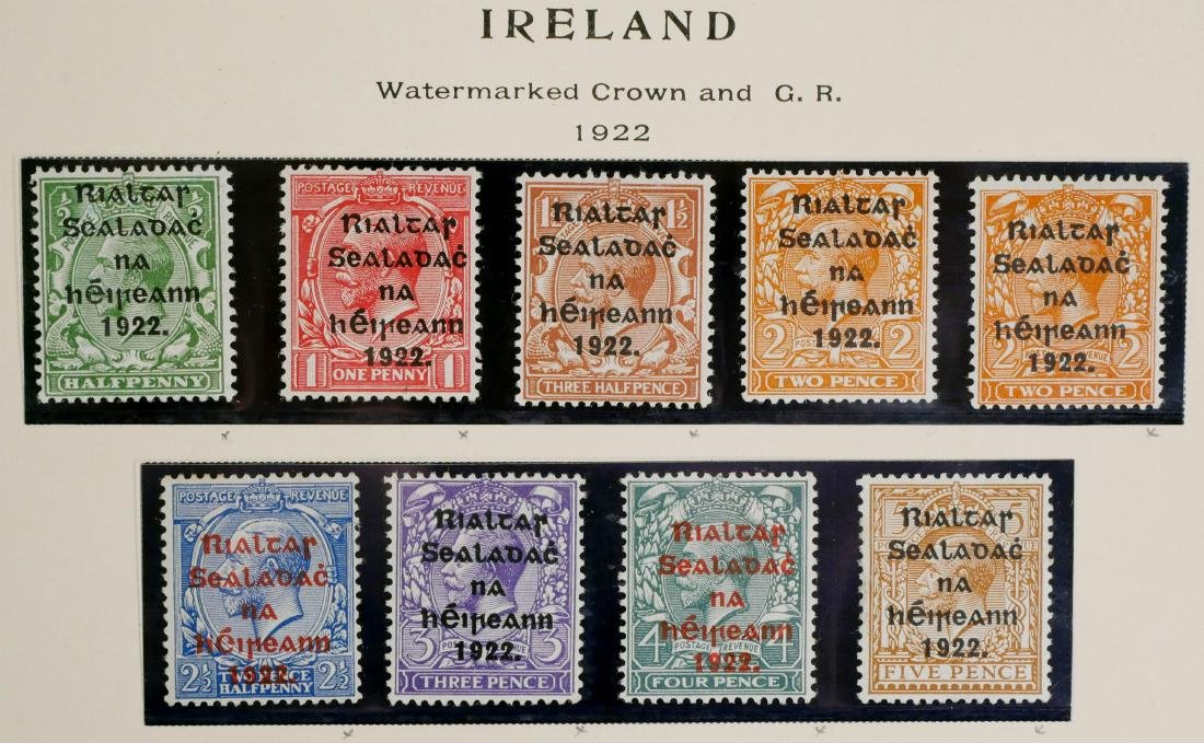 IRELAND, 1922, 22 stamps including #36 & NH #37 - 2