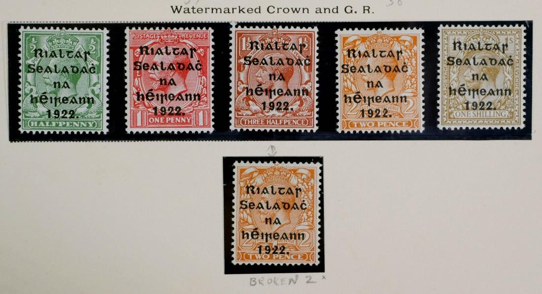 IRELAND, 1922, 22 stamps including #36 & NH #37 - 4