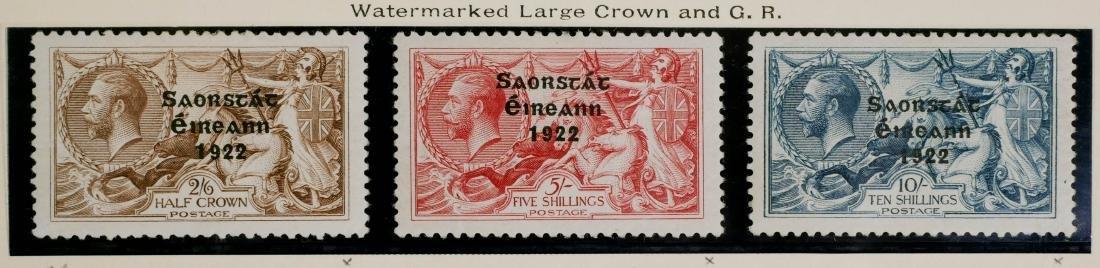 IRELAND, 1922-23, #56-58 unused