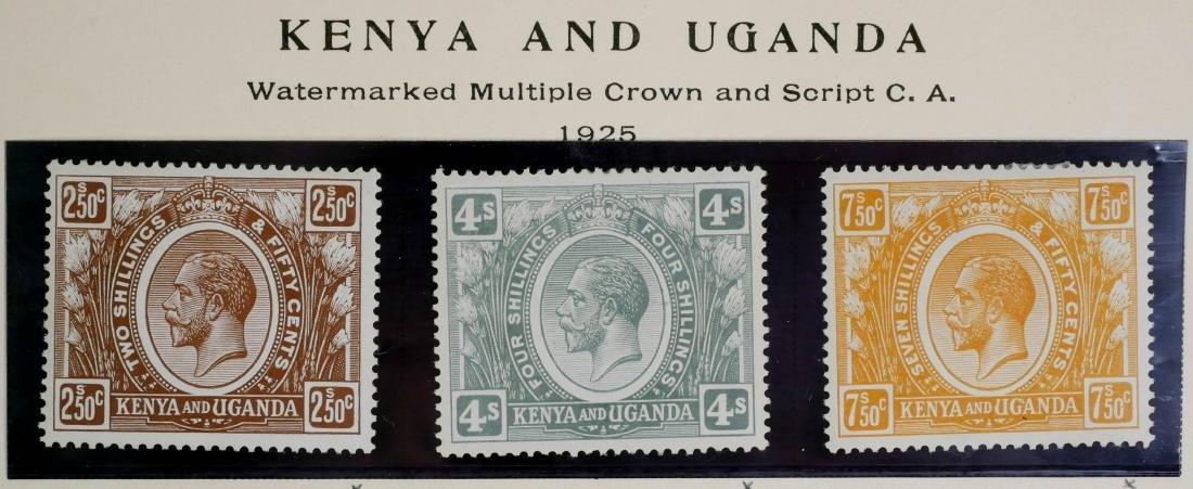 KENYA & UGANDA, 1925 2sh50c to 7sh50c, #31 33 35