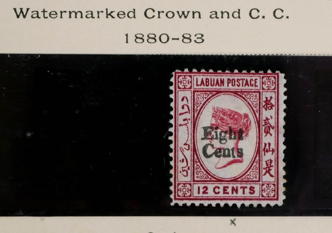LABUAN, 1880-83, 8c on 12c car surcharge
