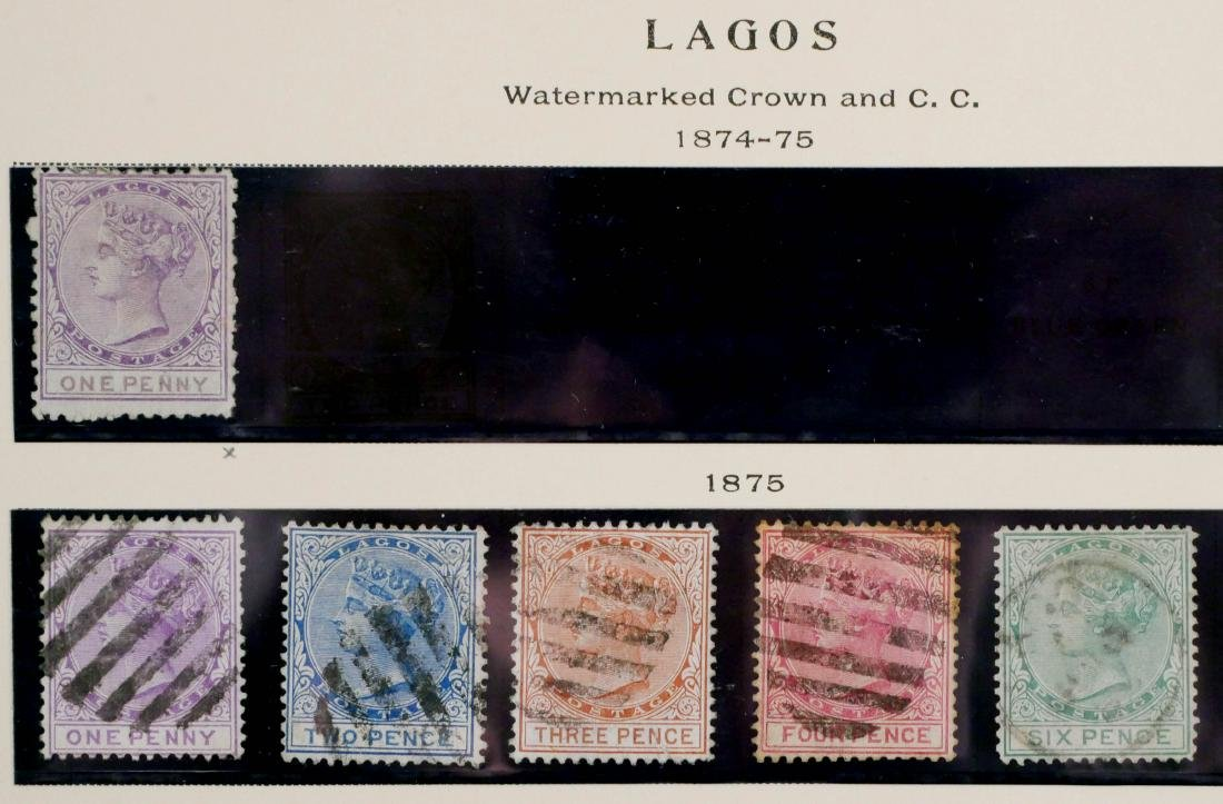 LAGOS, 1874-91, partial sets - 2