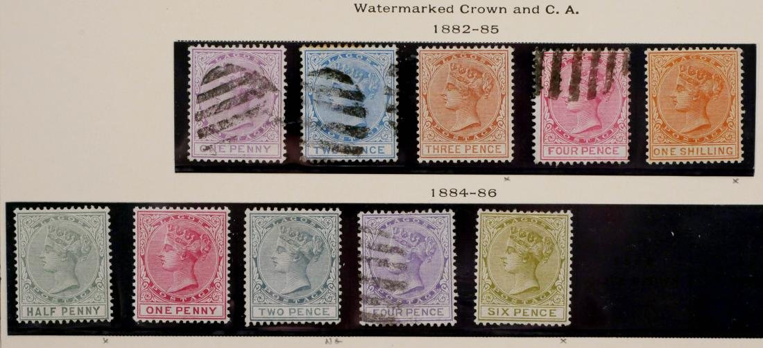 LAGOS, 1874-91, partial sets - 3
