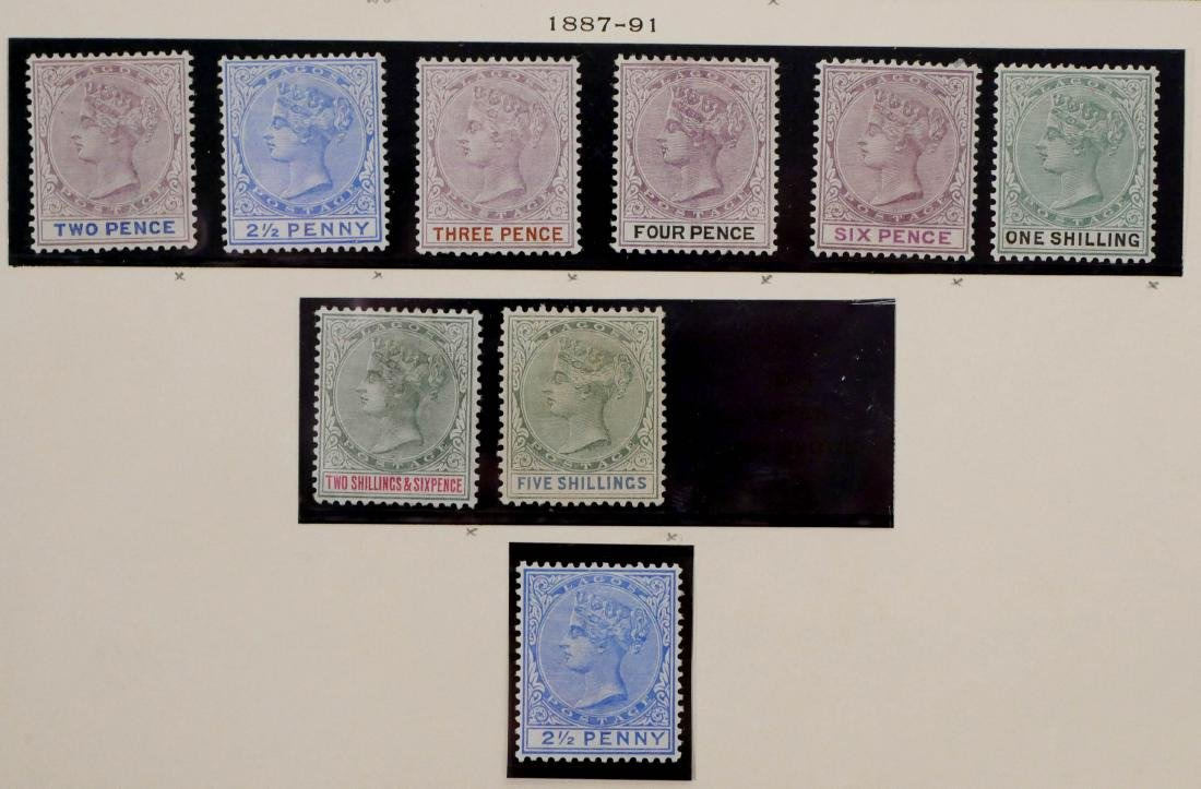 LAGOS, 1874-91, partial sets - 4