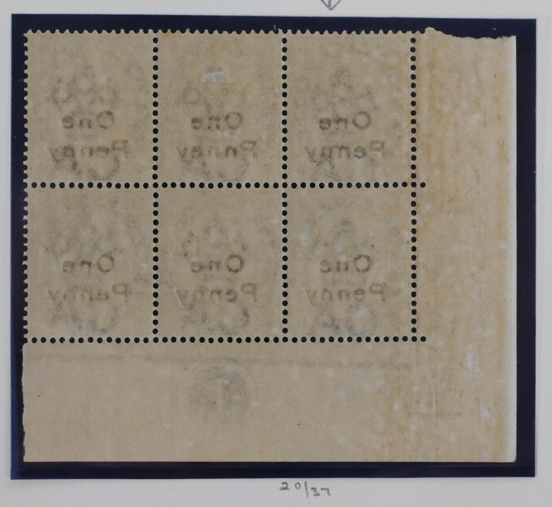 """MALTA, #20 block of 6 - """"Pnney"""" Error - 2"""