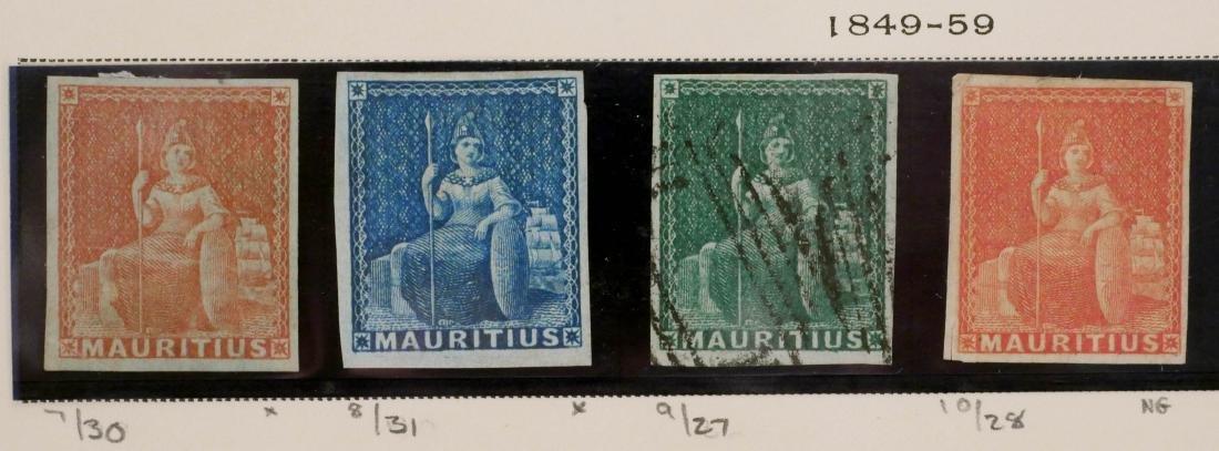 MAURITIUS, 1849-59. #7-10