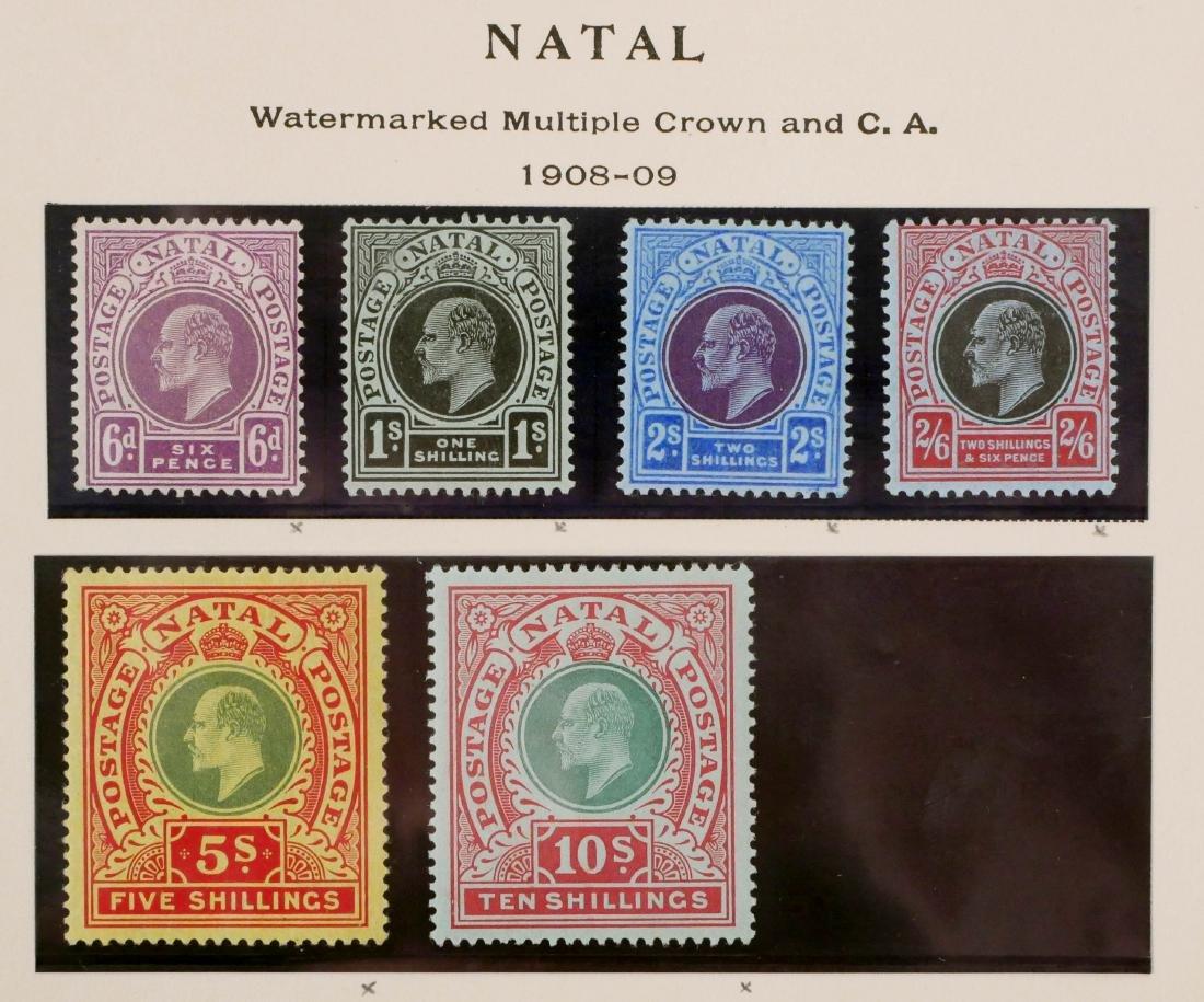 NATAL, 1908-09, 6p to 10sh, #110-115