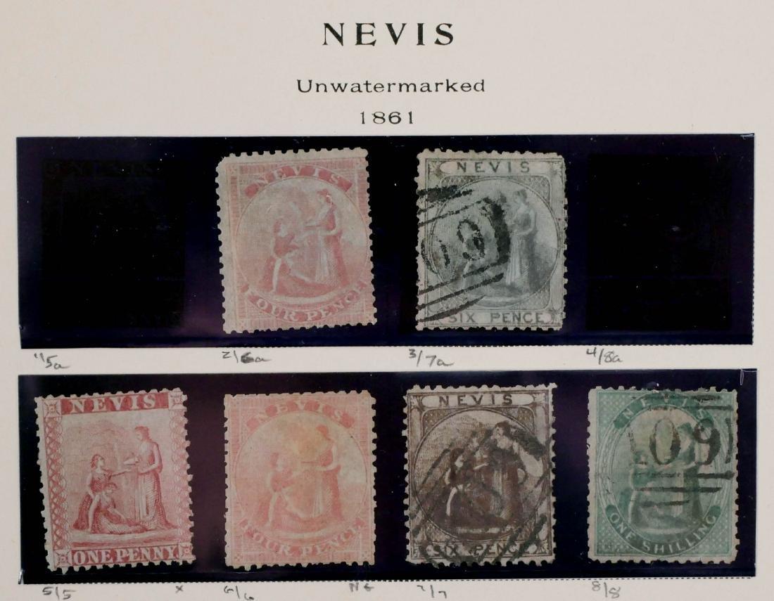 NEVIS, 1861-90, used and unused, high CV - 2