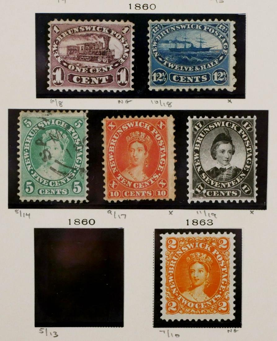 NEW BRUNSWICK, 1860-63, 5 examples unused