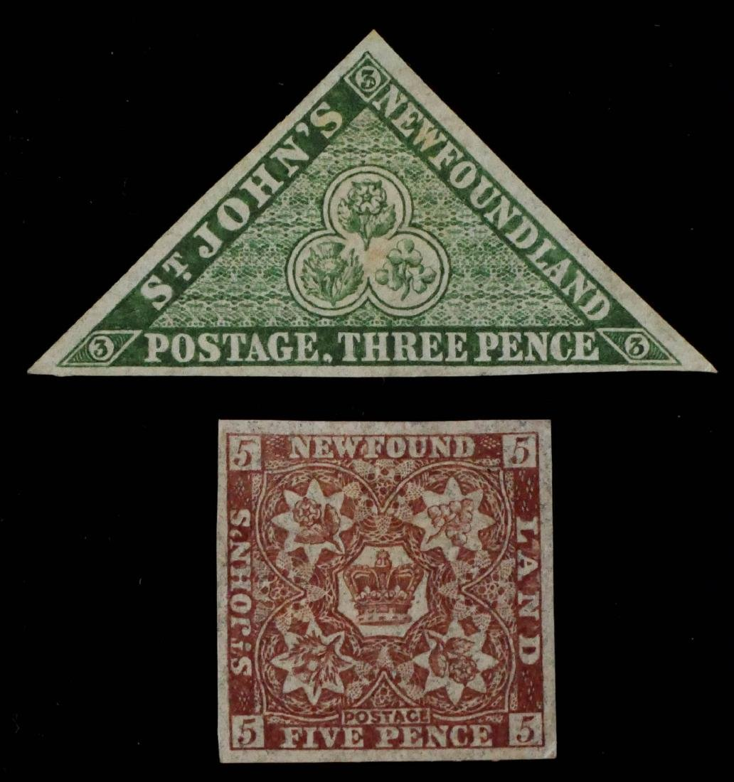 NEWFOUNDLAND, 1860 11A and 12A unused