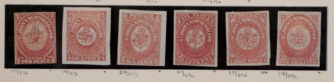 NEWFOUNDLAND, 1862-63, #17-23 unused