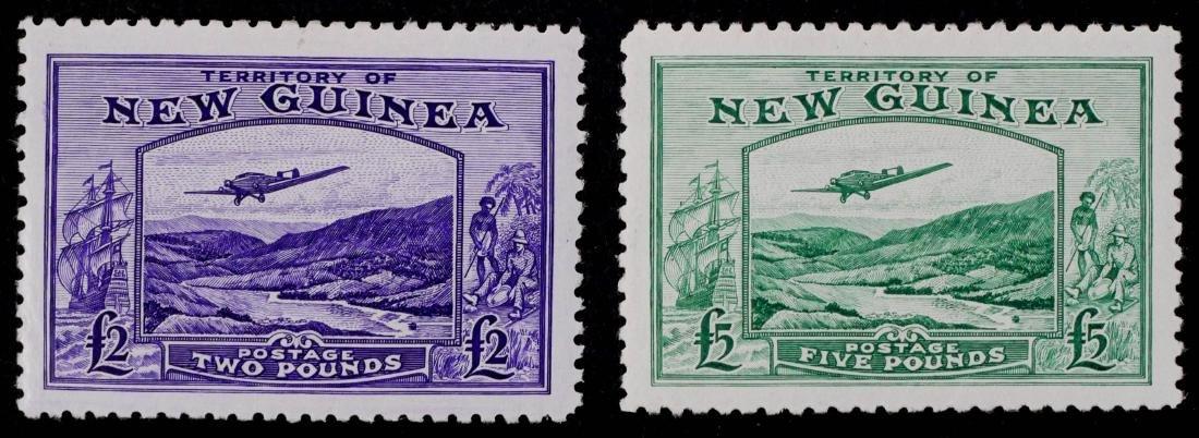 NEW GUINEA, 1935 Air Mail C44 C45 (CV $1,100)