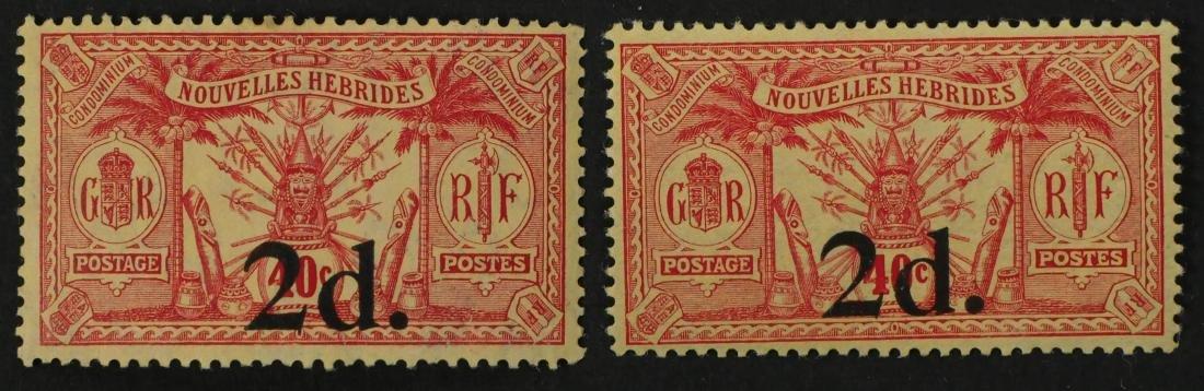 NEW HEBRIDES, 1920-21 #30-31 unused - 2