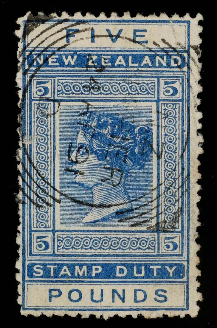 NEW ZEALAND, Postal Fiscal unlisted 5 Pounds