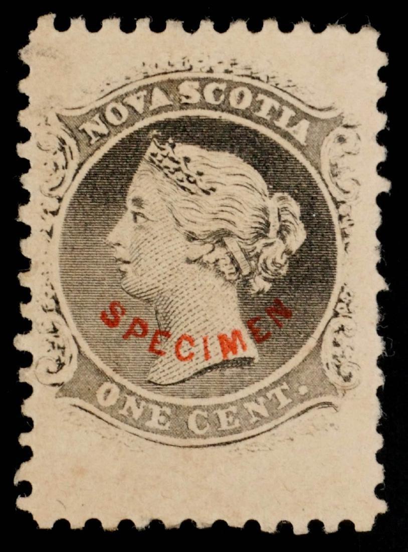 NOVA SCOTIA, 1860-63, 1c Black #8 Specimen