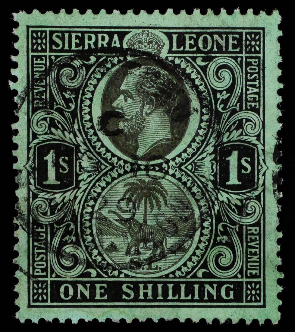SIERRA LEONE, 1912, 1sh #115a - 2