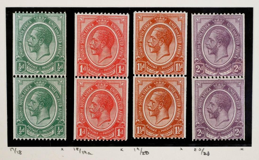 SOUTH AFRICA, 1913-22, #17-20 vert pairs