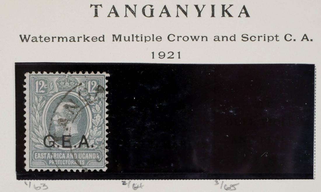 TANGANYIKA, 1921 12c Gray Used #1