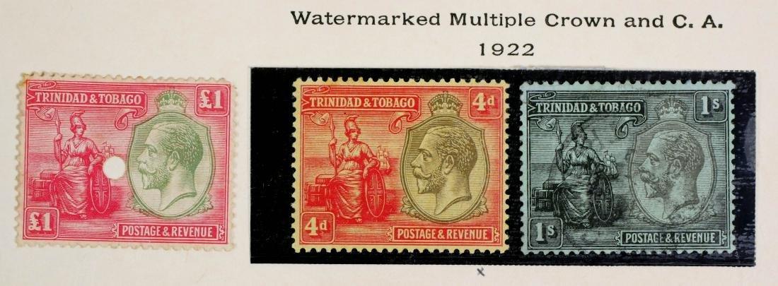 TRINIDAD & TOBAGO, 1922-28, set #21-33 - 4