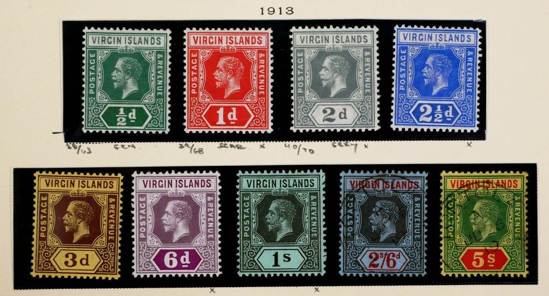 VIRGIN ISLANDS, 1913 set #38-46