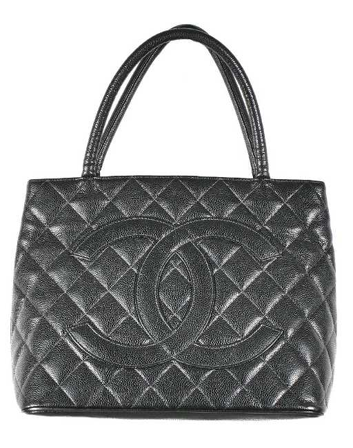 ab46b661655e9f Authentic Chanel Medallion Black Tote Bag. placeholder. See Sold Price