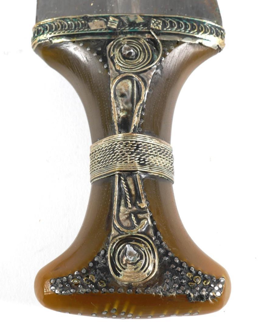 Pair of Arabian Silver Mounted Jambiya Daggers - 4