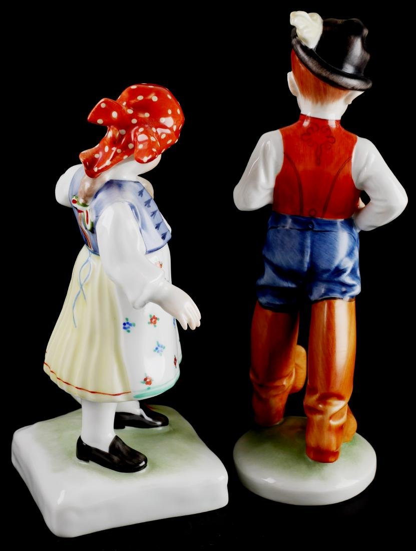 Herend Handpainted Porcelain Boy & Girl - 2