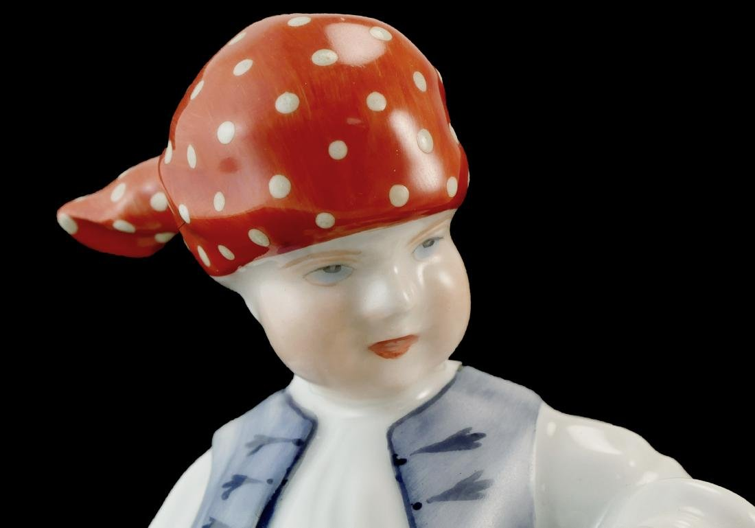 Herend Handpainted Porcelain Boy & Girl - 7
