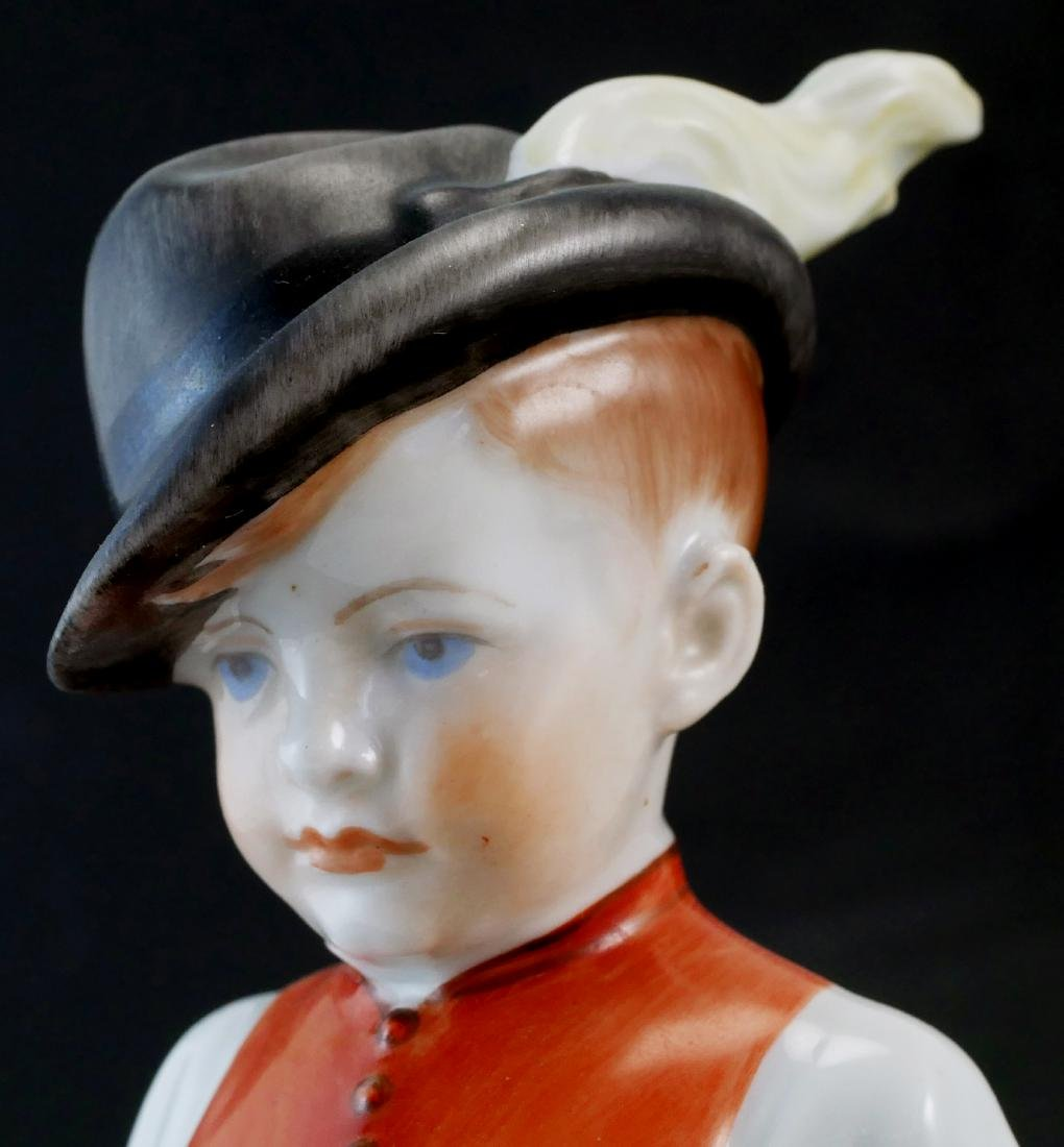 Herend Handpainted Porcelain Boy & Girl - 8
