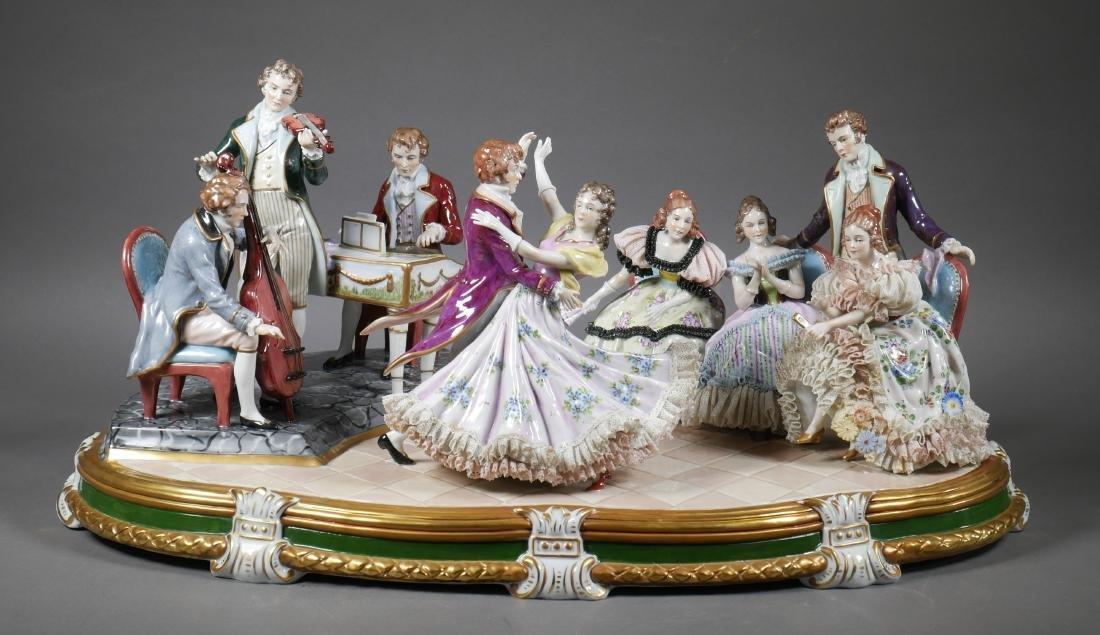 Antique Porcelain Figural Group Dresden Sitzendorf