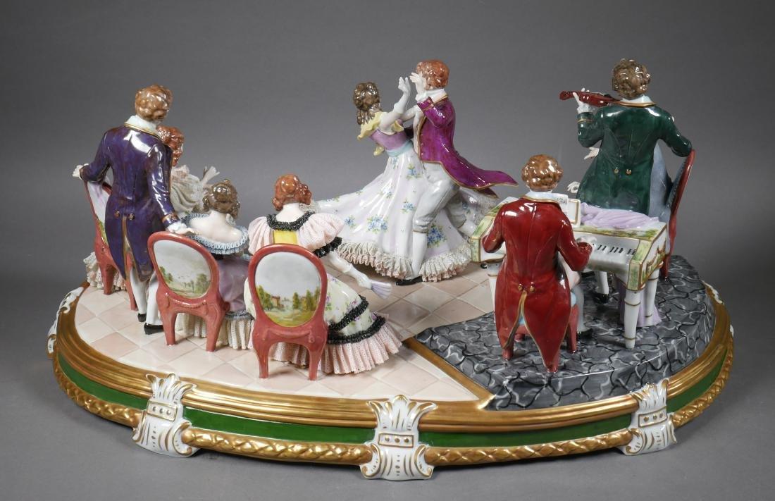 Antique Porcelain Figural Group Dresden Sitzendorf - 2